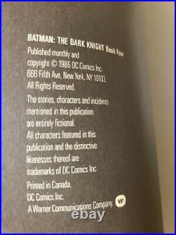 1986 Batman The Dark Knight Returns #1-4 First Prints