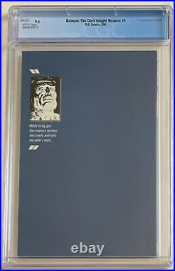 (1986) FRANK MILLER BATMAN THE DARK KNIGHT RETURNS #1 1st Print! CGC 9.4 WP