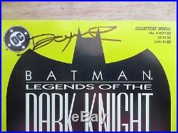 1989 Batman Legends Of The Dark Knight # 1 All 4 Covers Signed Denny O'neil, Poa