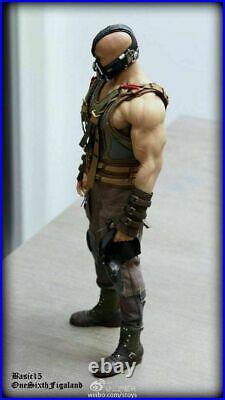 1/6 Batman The Dark Knight Bane Head & M34 Strong Body Figure Model Collect Toys