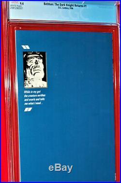 BATMANTHE DARK KNIGHT RETURNS #11st PRINTINGCGC GRADE 9.4Frank Miller Script