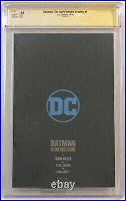 BATMAN THE DARK KNIGHT RETURNS #1 Foil CGC 9.8 SS 2x SIGNED Miller Janson NYCC