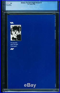 BATMAN THE DARK KNIGHT RETURNS #2 CGC 9.8 1986-Frank Miller 1280483006