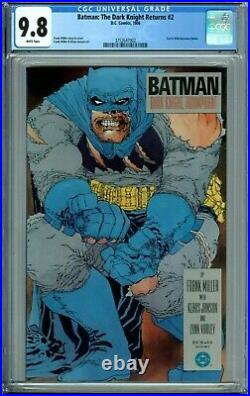 BATMAN THE DARK KNIGHT RETURNS 2 CGC 9.8 WP FRANK MILLER New CGC Case DC COMICS