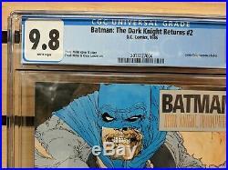 BATMAN THE DARK KNIGHT RETURNS 2 CGC 9.8 White Pages 1986 Frank Miller 1st Print