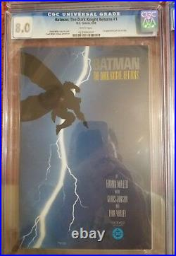 BATMAN THE DARK KNIGHT RETURNS CGC Full series 1-4 Grade 8-9.2