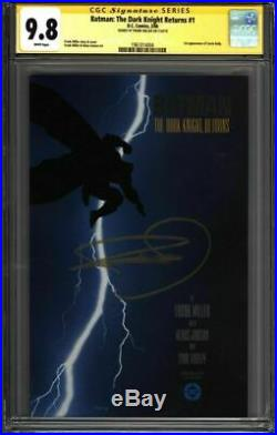 BATMAN The Dark Knight Returns #1 CGC 9.8 SS Signed MILLER (1961014004)