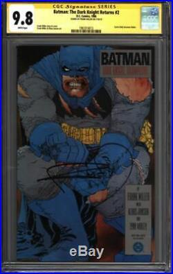 BATMAN The Dark Knight Returns #2 CGC 9.8 SS Signed MILLER (1961014013)