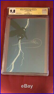 BatmanThe Dark Knight Returns #1 Foil Virgin Cover CGC 9.8 Signed Frank Miller