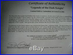 Batman Animated LE cel Legends of the Dark Knight 228/250 Signed Bruce Timm 2002