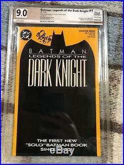 Batman Legends Of The Dark Knight #1 Pgx 9.0 (cbcs Cgc) Signed By Bob Kane