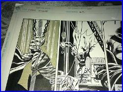 Batman Legends of the Dark Knight 1989 Original Art Storyboard Offset DC Comics