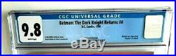Batman THE DARK KNIGHT RETURNS # 4 CGC 9.8 White Pages Frank Miller DC