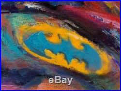 Batman The Dark Knight 40 x 32 S/N LE Gallery Wrapped Canvas by Blend Cota