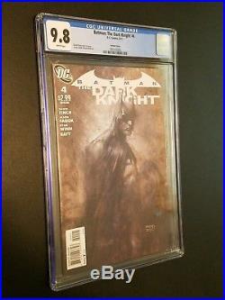 Batman The Dark Knight #4 Finch Sketch Variant HTF DC 2011 CGC 9.8