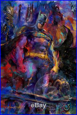Batman The Dark Knight 60 x 48 S/N LE Gallery Wrapped Canvas by Blend Cota