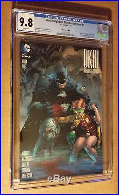 Batman The Dark Knight III The Master Race #1 1500 Jim Lee Variant CGC 9.8 NM+M