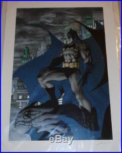 Batman The Dark Knight Knightwatch Giclee DXCM on paper #3/5 Signed Jim Lee