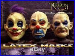 Batman The Dark Knight Latex Mask Bank Robbers For 3 Joker Grumpy And Chuckles