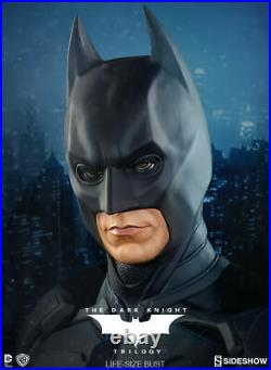 Batman The Dark Knight Life Size Bust TDKR Sideshow Collectibles NIB