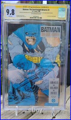 Batman The Dark Knight Returns 1-4 CGC 9.8 WP Signed Miller & Janson 35th