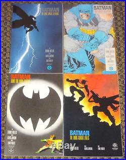 Batman The Dark Knight Returns #1-4 Complete Set 1986 Frank Miller DC Comics Vf