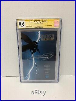 Batman The Dark Knight Returns 1 CGC 9.6 Signed By Legend Frank miller Rare