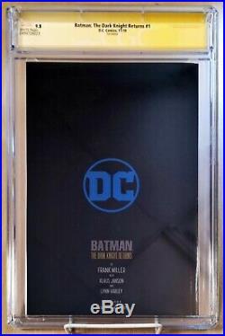 Batman The Dark Knight Returns #1 CGC 9.8 FOIL Signature Series Frank Miller