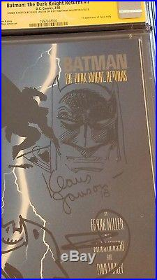 Batman The Dark Knight Returns #1 CGC 9.8 SS 2x Signed/ Sketched Miller Janson