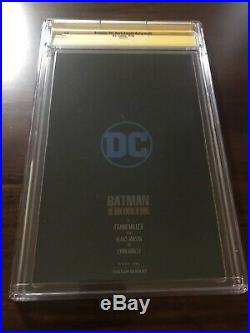 Batman The Dark Knight Returns #1 CGC 9.8 SS NYCC Foil Signed by Frank Miller