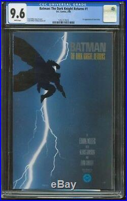 Batman The Dark Knight Returns 1 CGC-GRADED 9.6 NEAR MINT+ WHITE PAGES DC 18350
