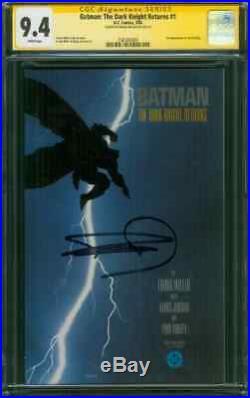 Batman The Dark Knight Returns 1 CGC SS 9.4 Frank Miller Auto 1st Pr 1986