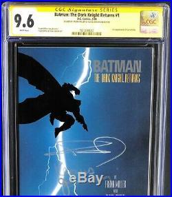 Batman The Dark Knight Returns #1 Cgc 9.6 Ss 2x Signed Frank Miller Janson