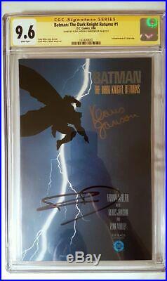 Batman The Dark Knight Returns 1 Cgc 9.6 Ss X2 Signed Frank Miller Klaus Janson