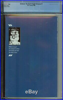 Batman The Dark Knight Returns #1 Cgc 9.8 1st App Carrie Kelly 1st Print