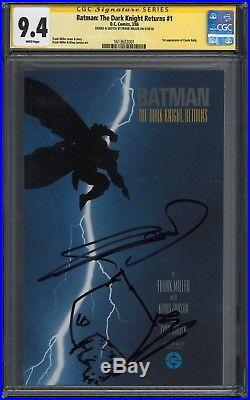 Batman The Dark Knight Returns #1 Cgc Ss 9.4 Signed & Sketch By Frank Miller