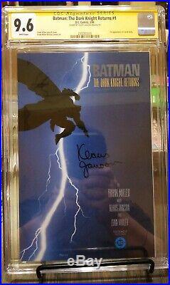 Batman The Dark Knight Returns #1 Ss Cgc 9.6 Signed Klaus Janson White Pages