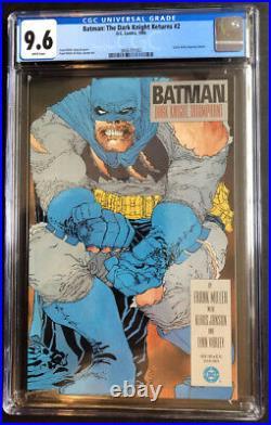 Batman The Dark Knight Returns #2 1st Print CGC 9.6 WHITE pages Frank Miller