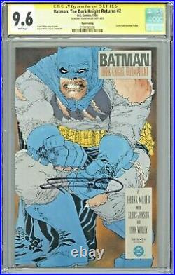 Batman The Dark Knight Returns #2 CGC 9.6 SS Third Printing Sig Frank Miller