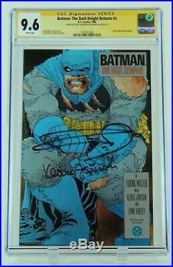 Batman The Dark Knight Returns #2 CGC 9.6 Signed Klaus Janson & Frank Miller