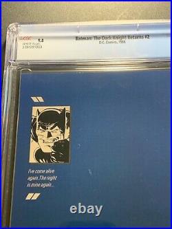 Batman The Dark Knight Returns #2 CGC 9.8 (DC Comics 1986) 1st print
