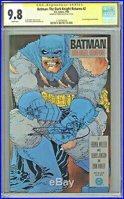Batman The Dark Knight Returns #2 CGC 9.8 SS Signed Frank Miller First Print