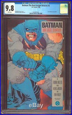 Batman The Dark Knight Returns 2 Cgc-9.8 Near Mint/mint White DC Comics 17827