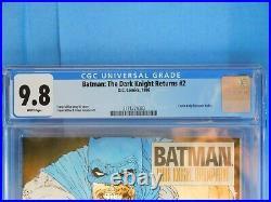 Batman The Dark Knight Returns #2, Cgc 9.8, White Pages, 1st Print
