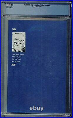 Batman The Dark Knight Returns #3 1986 DC CGC 9.8 White Pages