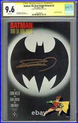 Batman The Dark Knight Returns #3 CGC 9.6 SS Signed Frank Miller First Print