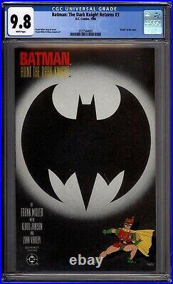 Batman The Dark Knight Returns 3 CGC Graded 9.8 NM/MT DC Comics 1986