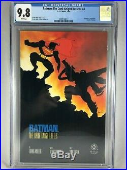 Batman The Dark Knight Returns #4 1986 CGC 9.8 Frank Miller Superman White DC