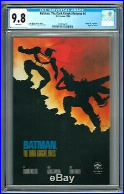 Batman The Dark Knight Returns #4 (1986) CGC 9.8 White Pages Miller 1st Print