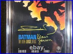 Batman The Dark Knight Returns #4 CGC 9.8 2x Signed Frank Miller Klaus Janson